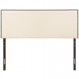 Region King Nailhead Upholstered Headboard, Ivory by Modway Furniture