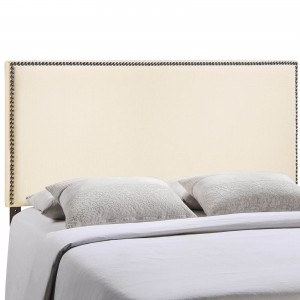 Region Full Nailhead Upholstered Headboard, Ivory by Modway Furniture