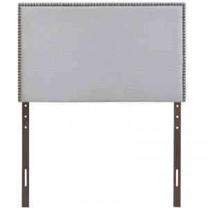 Region Twin Nailhead Upholstered Headboard, Gray by Modway Furniture