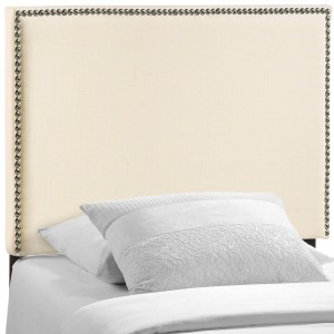 Region Twin Nailhead Upholstered Headboard, Ivory by Modway Furniture
