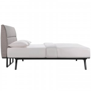 Addison Queen Bed, Gray by Modway Furniture