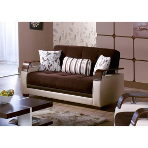 Natural Loveseat, Colins Brown by Sunset International Trade