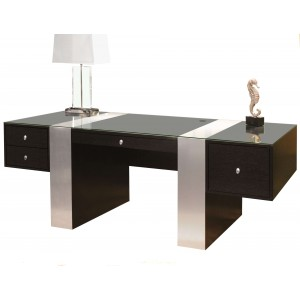 Nero Glass Desk by Sharelle Furnishings