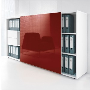 Standard ZS02 Managerial Storage Cabinet w/Sliding Door by MDD Office Furniture