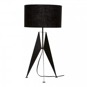 Raven Iron/Linen Table Lamp by MOE'S