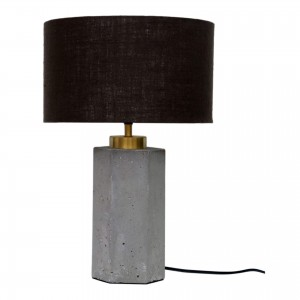 Pantheon Concrete/Iron/Linen Table Lamp by MOE'S