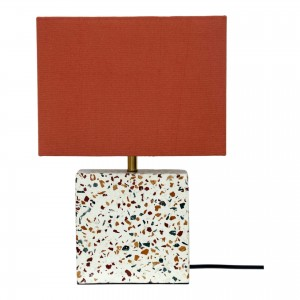 Terrazzo Cylinder Concrete/Iron/Cotton Table Lamp by MOE'S