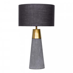 Savoy Concrete/Iron/Linen Table Lamp by MOE'S