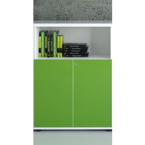 Gloss 3OH Medium Office Half Bookcase by MDD Office Furniture