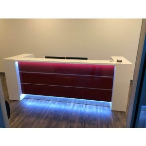 VALDE Straight Reception Desk by MDD Office Furniture
