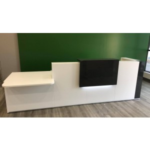 TERA L Shaped Reception Desk w/Counter Top by MDD Office Furniture