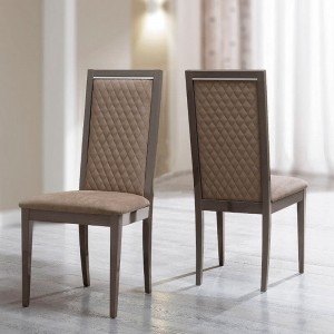 Platinum Rombi Eco-Leather Dining Chair by Camelgroup, Italy