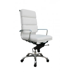 Plush High Back Adjustable Steel Swivel Office Chair by J&M Furniture