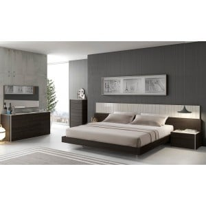Porto Premium Bedroom Set, White by J&M Furniture