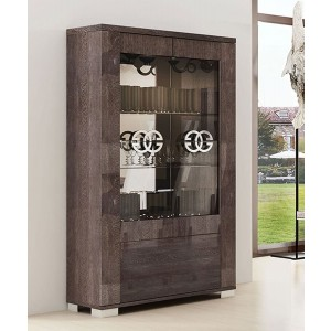 Prestige Modern Wood 2-Door China Cabinet by Status, Italy