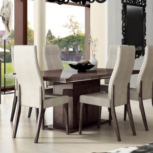 Prestige Modern Rectangular Wood Dining Table w/1 Extension by Status, Italy