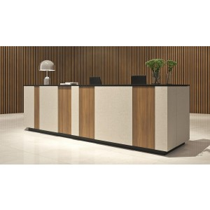 Domino Customizable Reception Desk w/o Table by Kansole