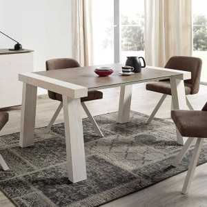 Reyna Modern Rectangular Wood Extendable Dining Table by ESF Furniture