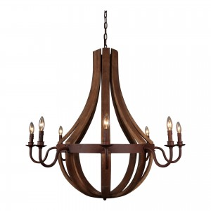 Pasquale Iron/Wood Pendant Lamp by MOE'S