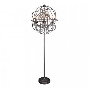 Adelina Iron/Glass Floor Lamp by MOE'S