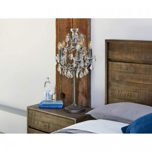 Luisa Iron/Glass Table Lamp by MOE'S