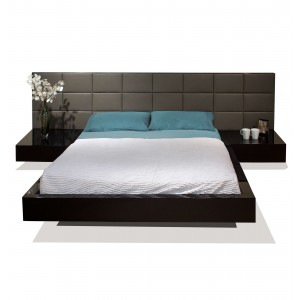 Sharon Leather Platform Bed by Sharelle Furnishings