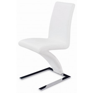 Side-455 Dining Chair, Set of 2, White by New Spec Furniture