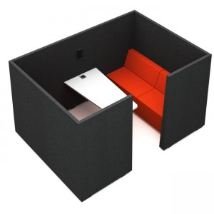 Jazz Silent Box with 5Acoustic Walls, Desk, Monitor Holder, Power Socket, MDF Legs by NARBUTAS