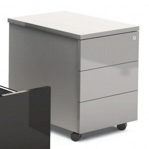 Gloss Mobile Pedestal w/3 Drawers by MDD Office Furniture