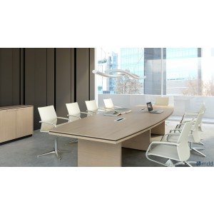 Status Conference Table, Canadian Oak by MDD Office Furniture