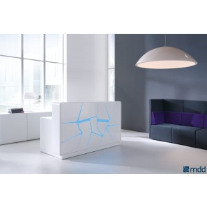 Sunbeam Lamp, White by MDD Office Furniture