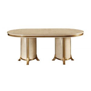 Melodia Classic Oval Dining Table w/1ext by ESF Furniture