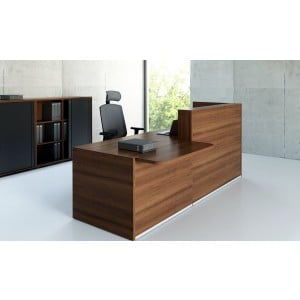 Tera Straight Reception Desk w/Counter Top