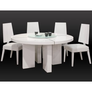 Turno Lacquer/Leather Dining Room Set by Sharelle Furnishings