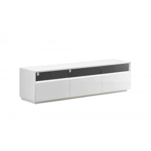 TV023 TV Stand, White High Gloss by J&M Furniture