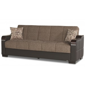 Uptown Sofa, Brown Fabric by Casamode