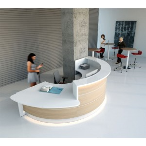 VALDE C Shaped Reception Desk w/Counter Top