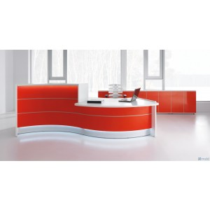 VALDE Curved Desk Storage Counter Reception Desk by MDD Office Furniture