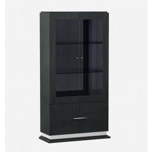 Valentina Modern Wood Veneer/Glass Vitrine by J&M Furniture