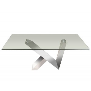 Vetro Glass/Stainless Steel Coffee Table by Sharelle Furnishings
