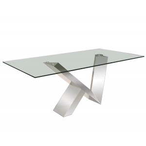 Vetro Glass/Stainless Steel Console Table by Sharelle Furnishings