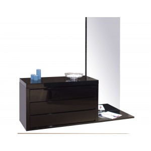 Victoria Lacquer Dresser w/Mirror by Sharelle Furnishings