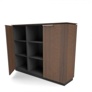 Status 3OH Medium Office Half Bookcase by MDD Office Furniture