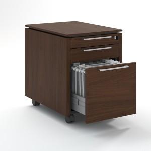 Status Mobile Pedestal w/2 Metal Drawers & 1 File Drawer by MDD Office Furniture