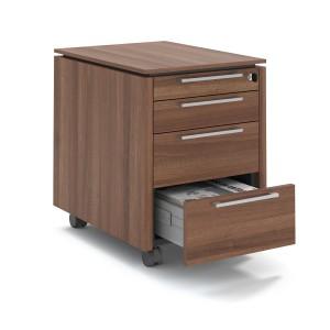 Status Mobile Pedestal w/3 Metal Drawers & 1 Pencil Drawer by MDD Office Furniture