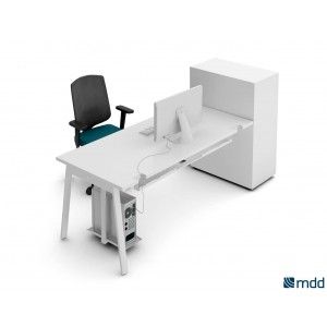 Yan_M Desk, White by MDD Office Furniture