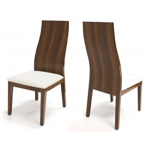 York Wood/Leather Dining Chair by Sharelle Furnishings
