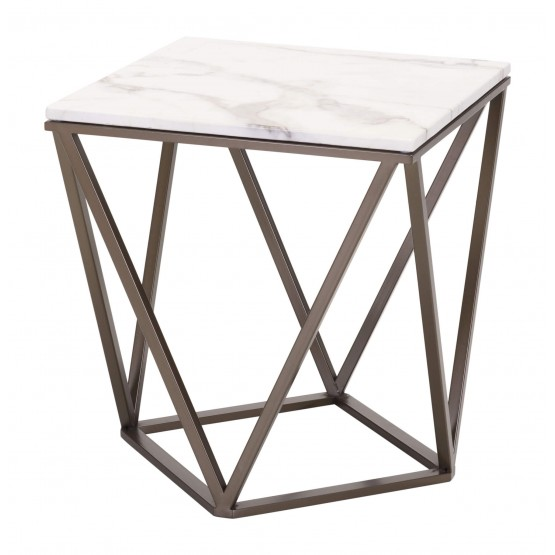 Tintern Faux Marble End Table photo