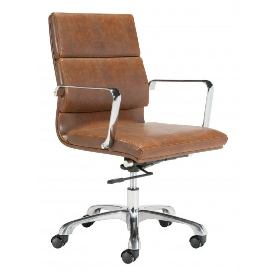 Ithaca Leatherette Adjustable Height Swivel Office Chair photo