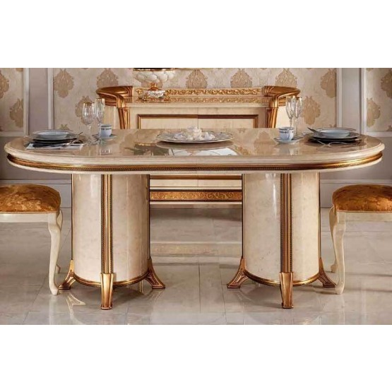 Melodia Classic Oval Dining Table w/1ext photo